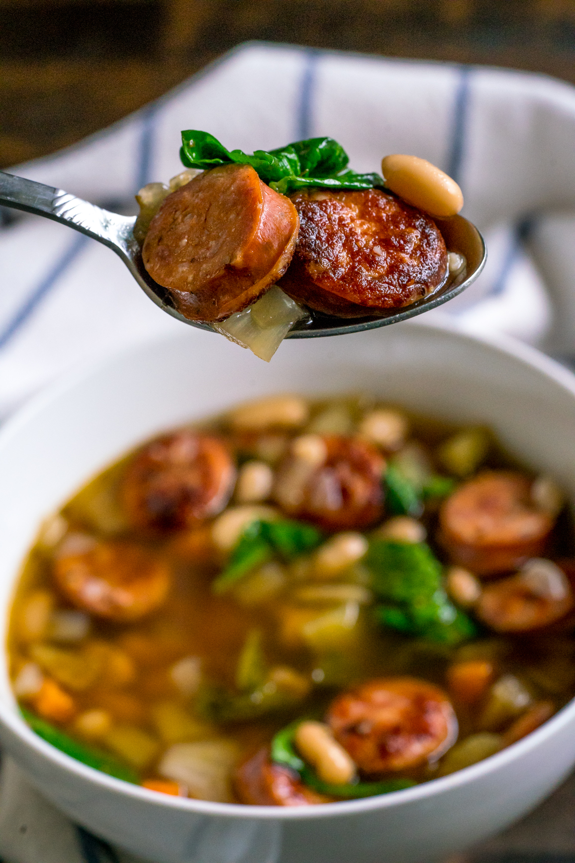 Sausage Spinach White Bean Soup 10