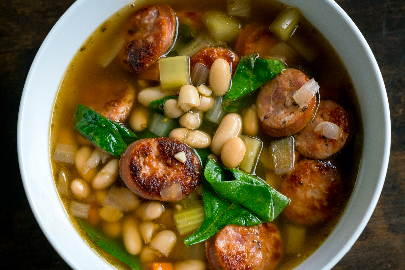 Sausage Spinach White Bean Soup 5