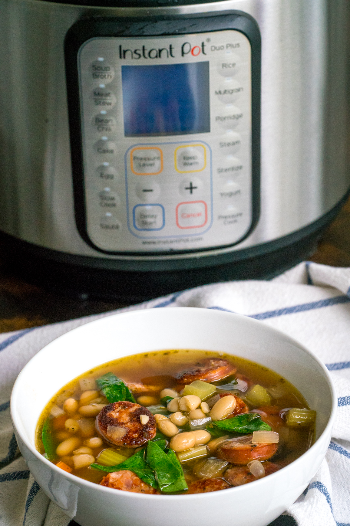 Sausage Spinach White Bean Soup 8