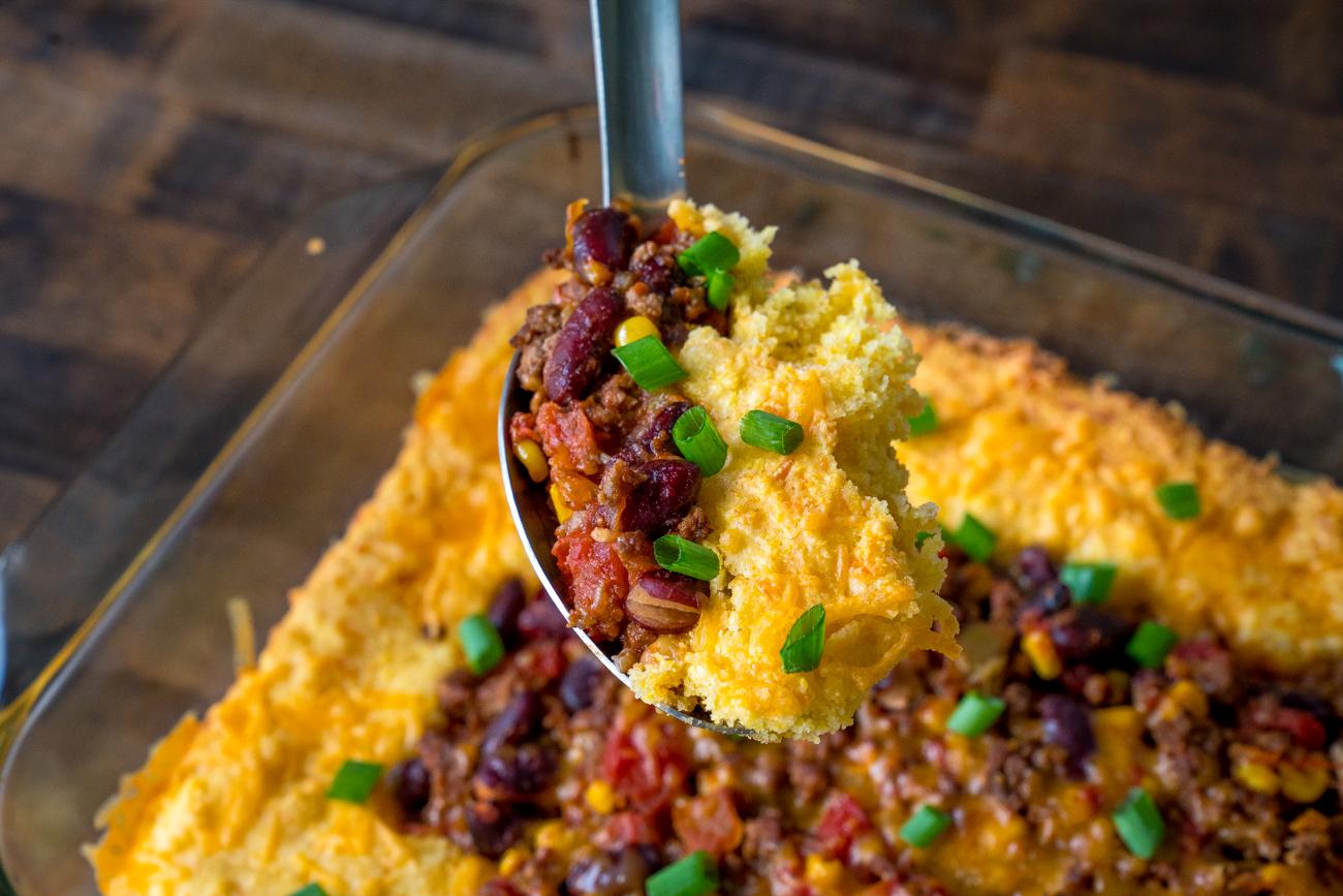 Chili Cornbread Casserole 6