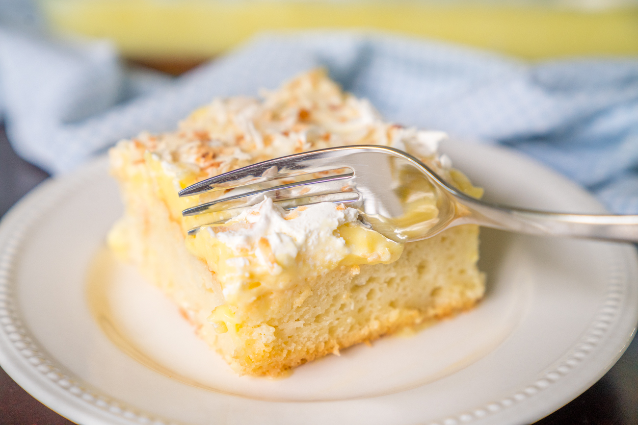 Coconut Cream Poke Cake Horizontal 24