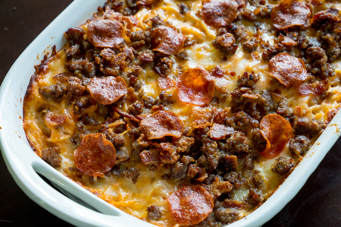 Meat Lover's Pizza Spaghetti Bake 2