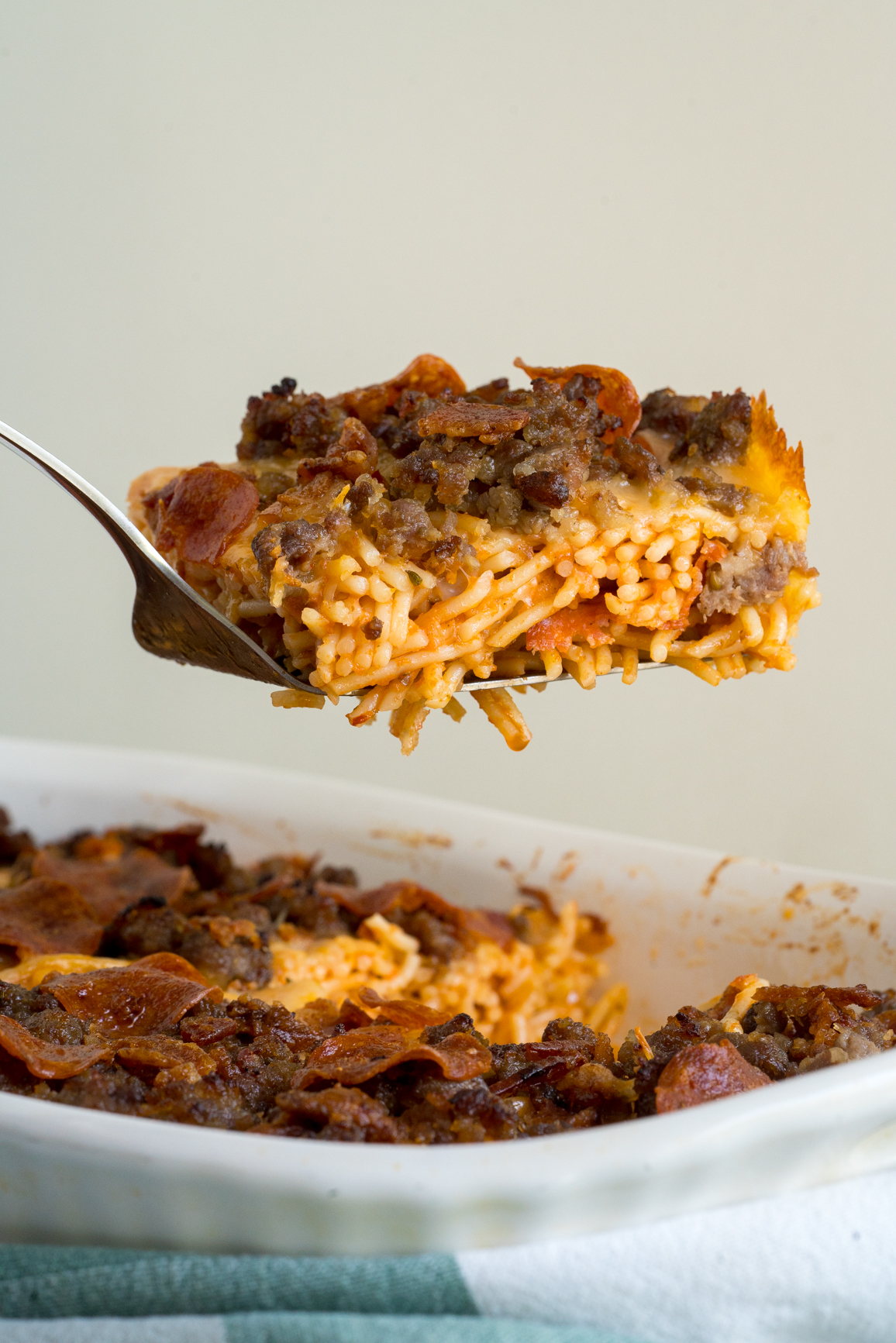 Meat Lover's Pizza Spaghetti Bake 6