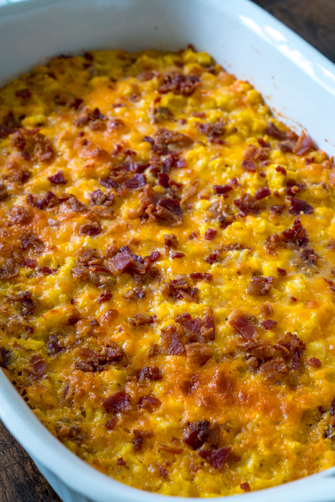 Cheesy Bacon Corn Casserole 12 Tomatoes
