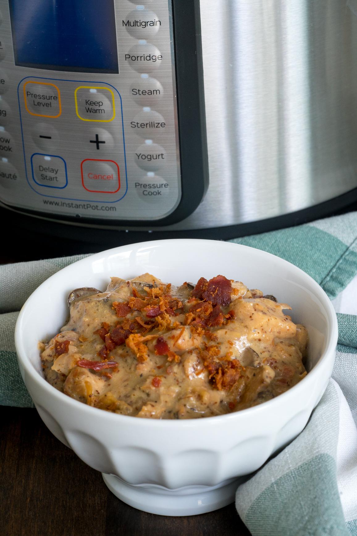 Instant Pot Bacon Honey Mustard Chicken 4