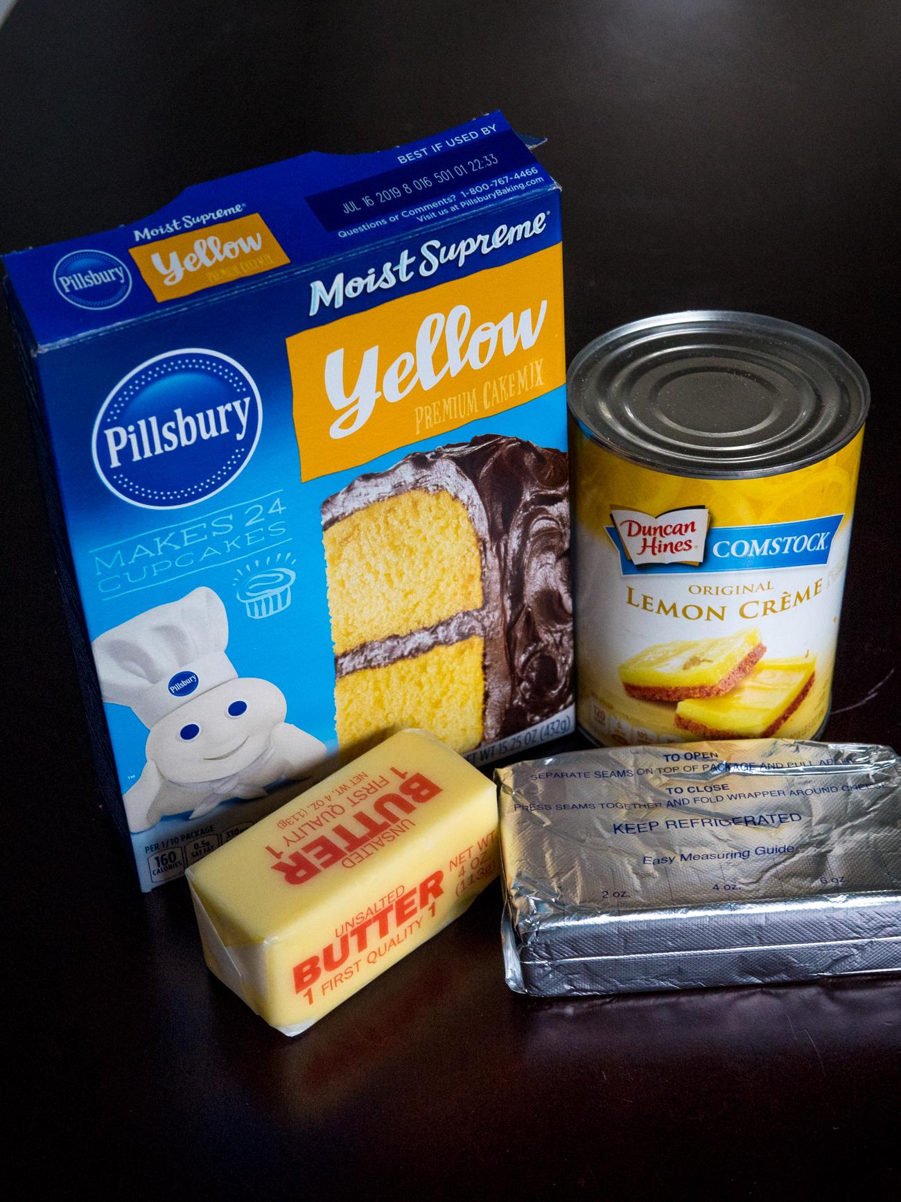 Lemon Cream Cheese Dump Cake 1