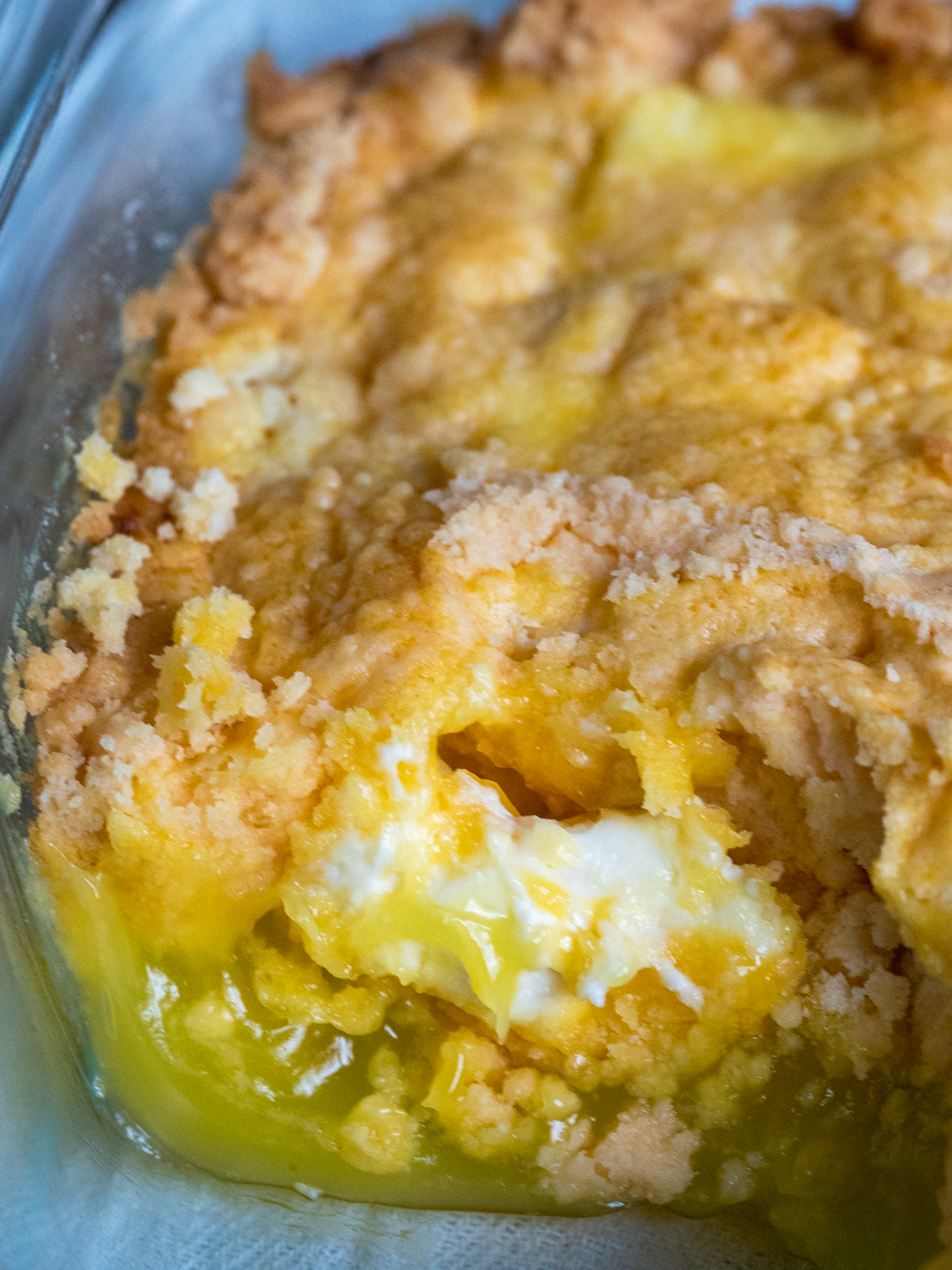 Lemon Cream Cheese Dump Cake 4