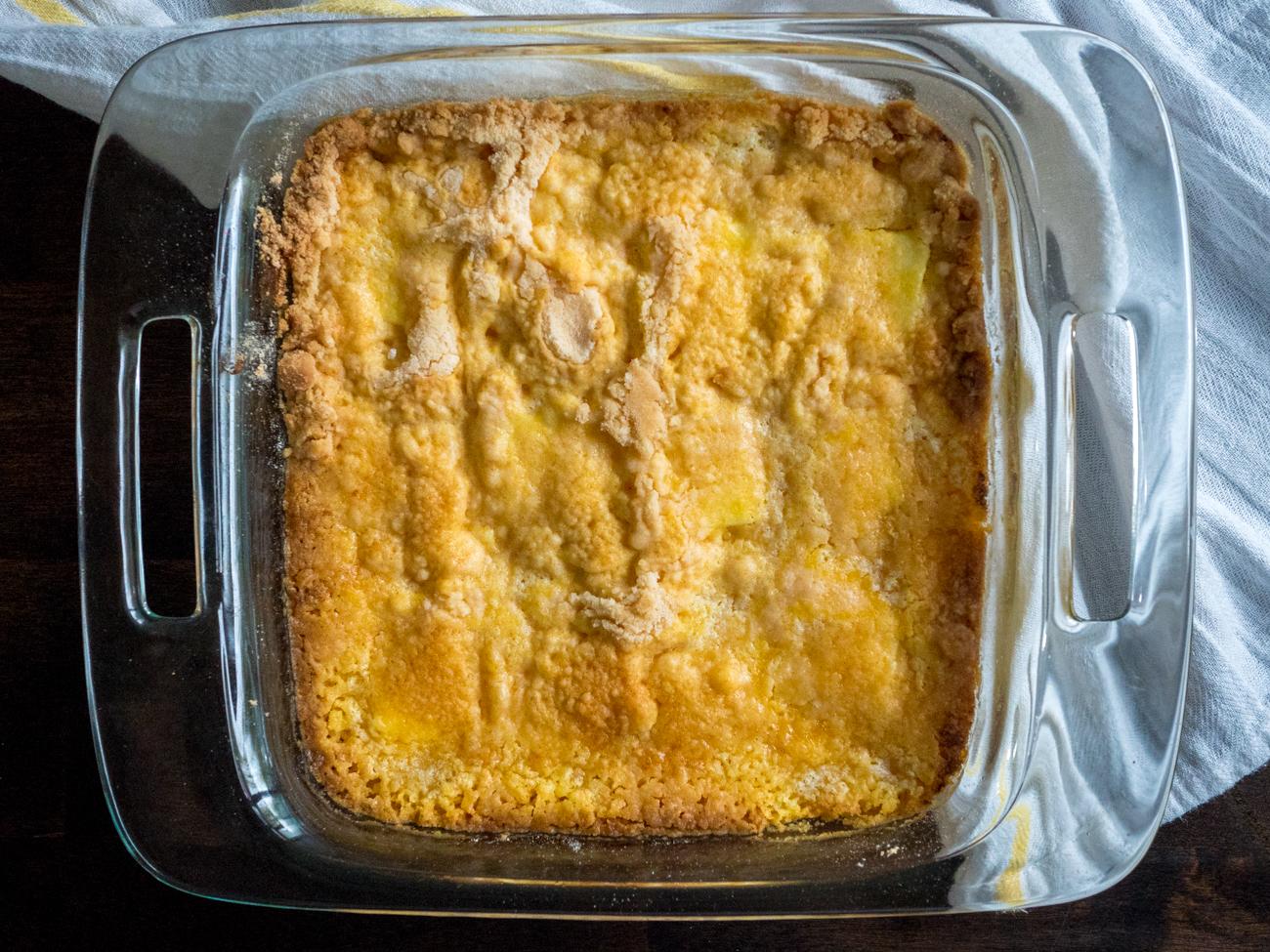 Lemon Cream Cheese Dump Cake 9