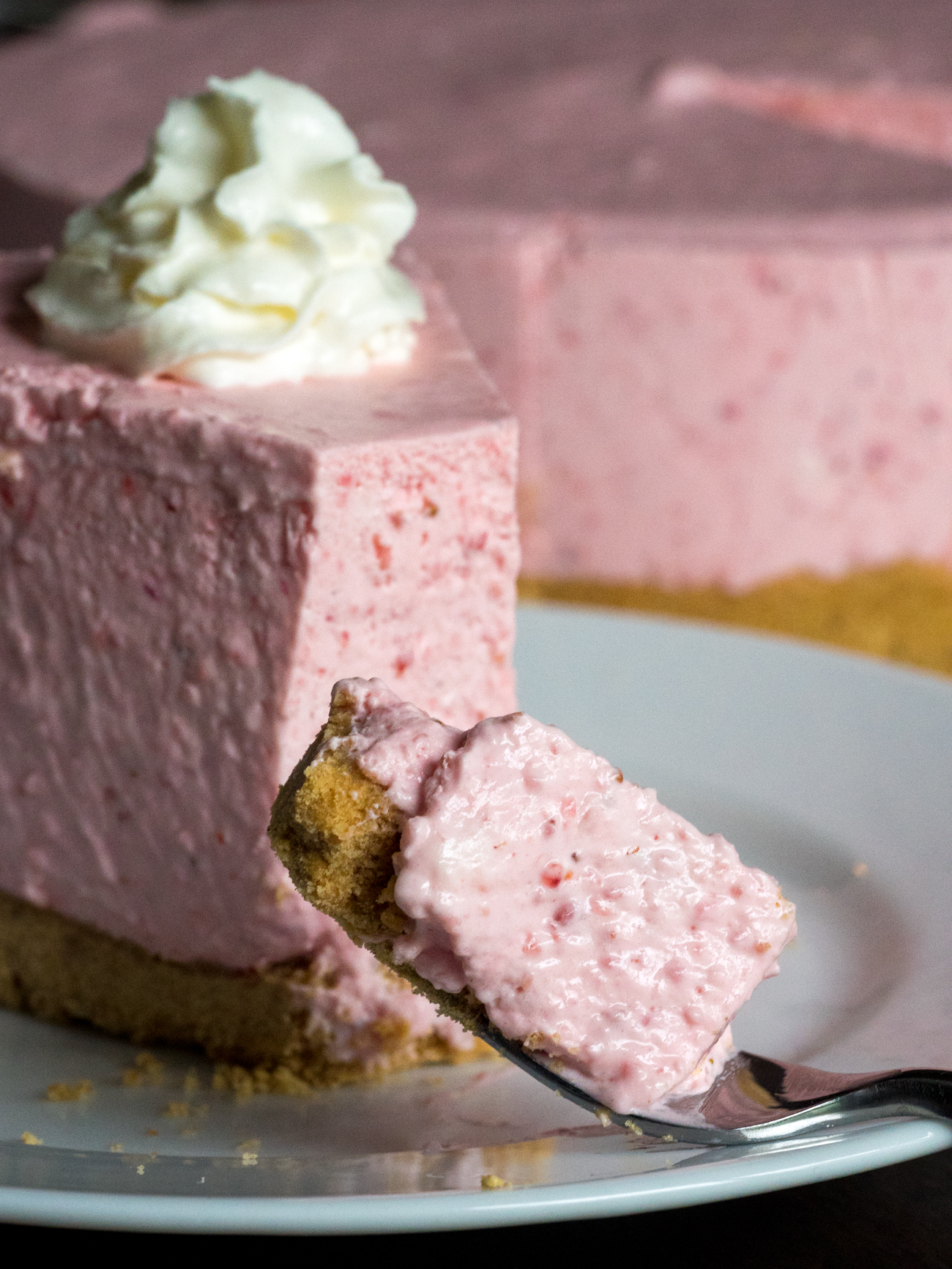 No-Bake Strawberry Cheesecake 9