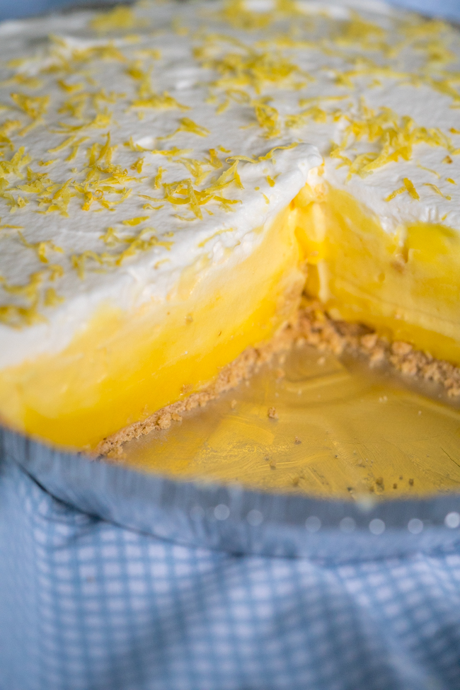 No-Bake Triple Layer Lemon Cake Vertical (13 of 19)