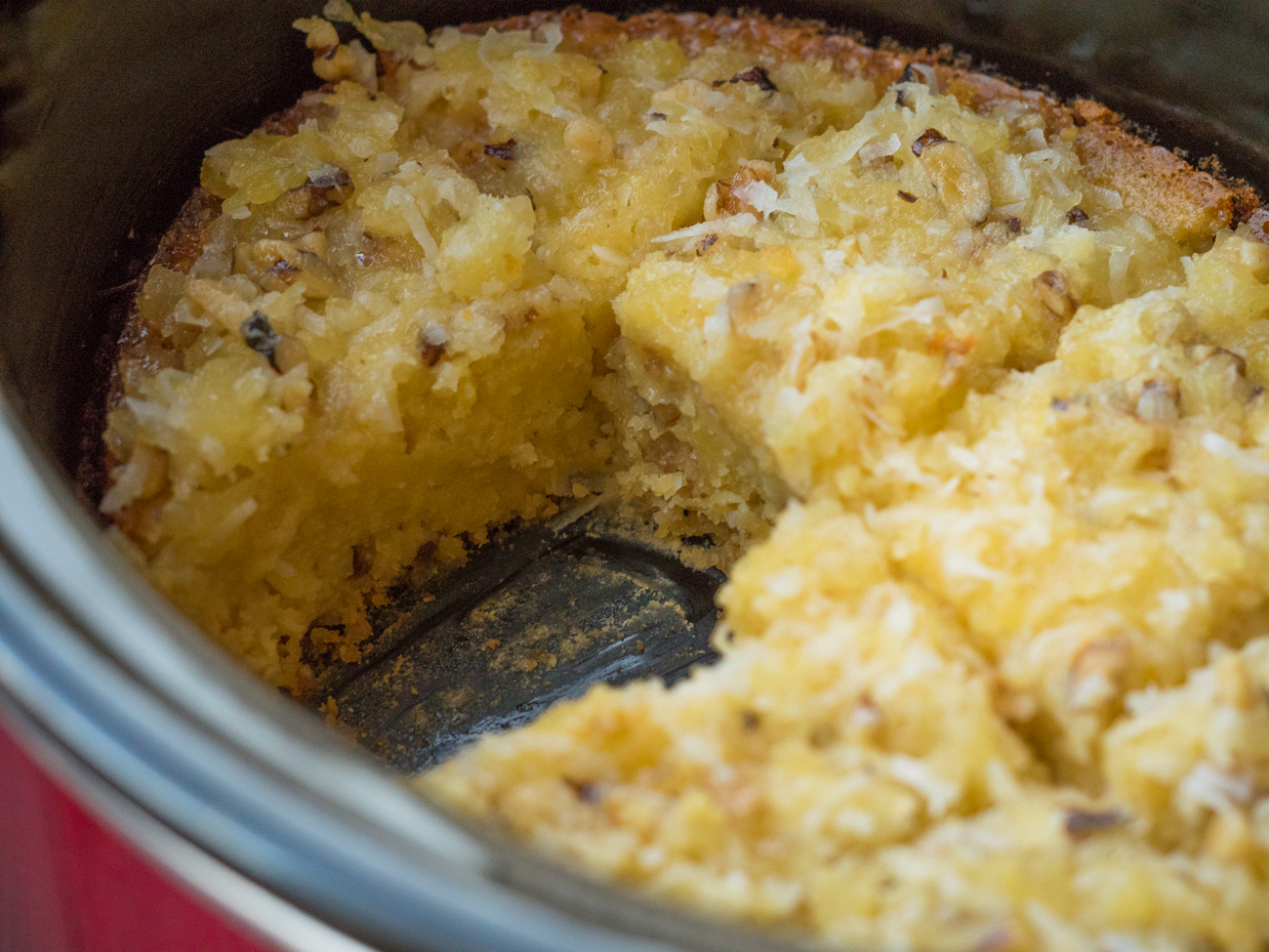 Slow Cooker Pineapple Spoon Cake Horizontal (8 of 11)