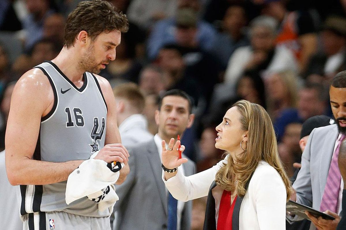 Becky Hammon is the first full-time assistant coach in any of North America's four major male sports leagues. She's coached for the San Antonio Spurs since 2014.