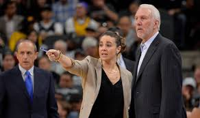 Becky Hammon pictured with Spurs Head Coach Gregg Poppovich.