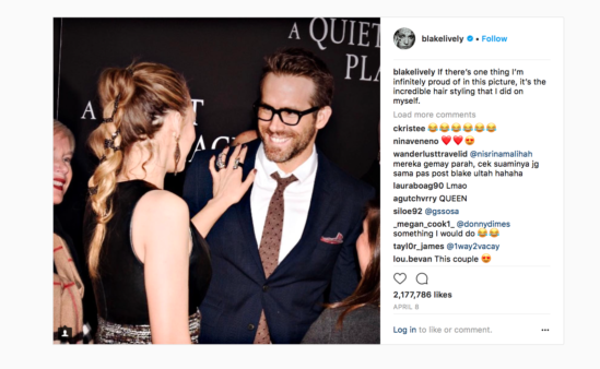 Blake Lively and Ryan Reynolds enjoy social media banter that straddles the line between harsh and hilarious.