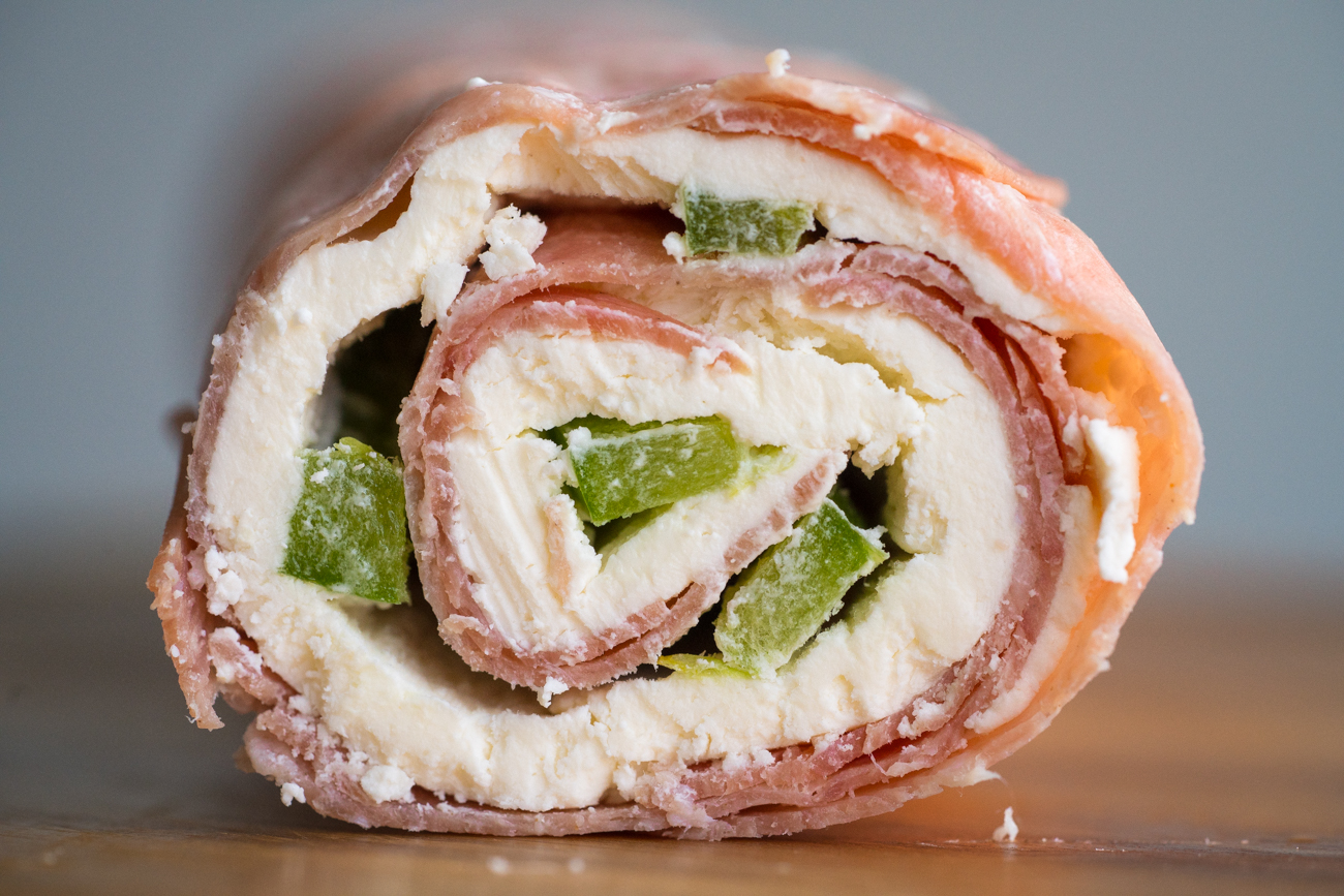 Salami Cream Cheese Roll-ups Horizontal (2 of 6)