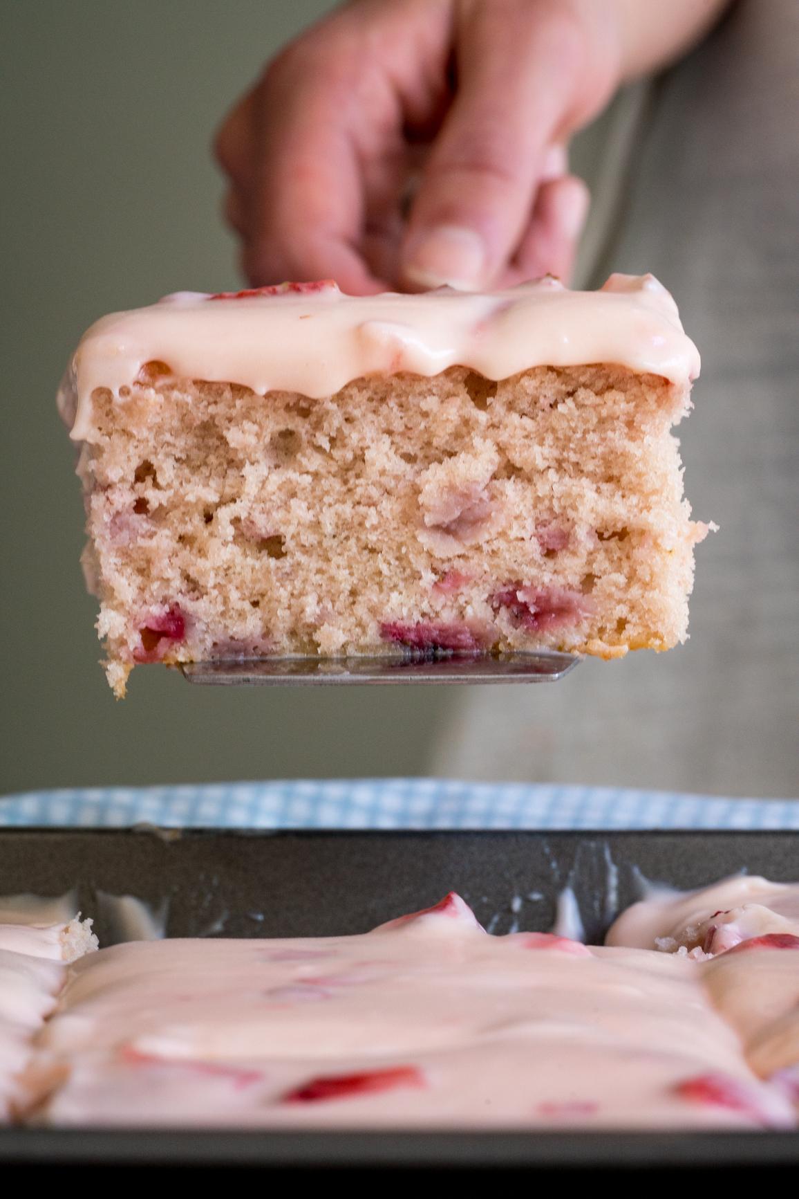 Strawberry Sheet Cake7