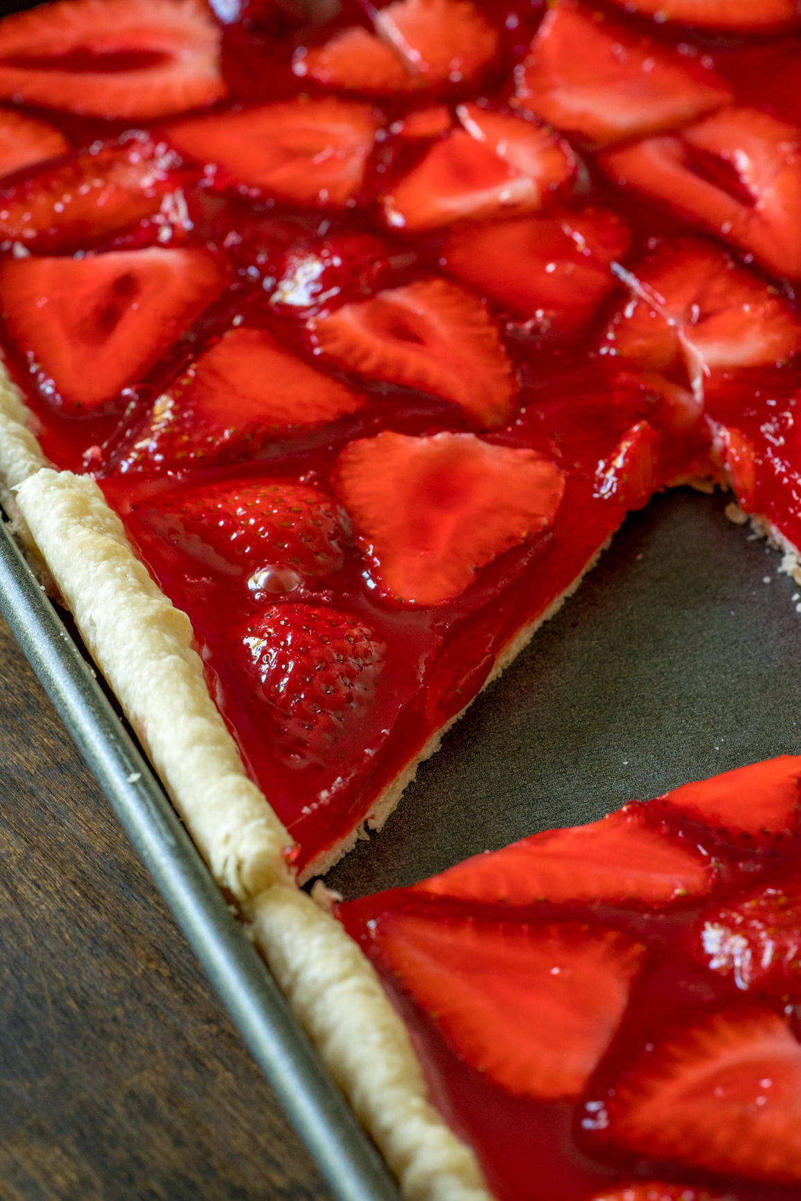 Strawberry Slab Pie 6