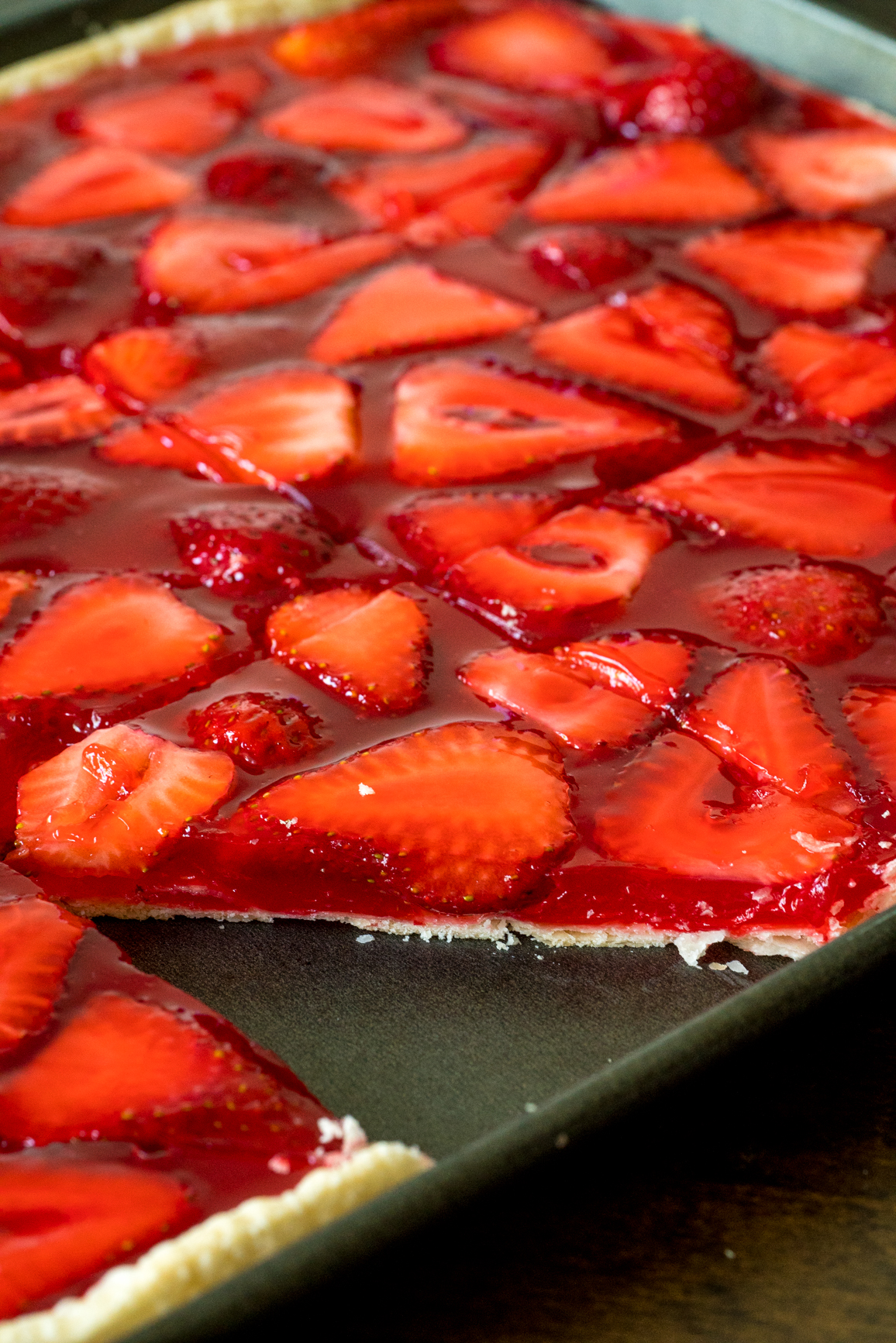 Strawberry Slab Pie 7