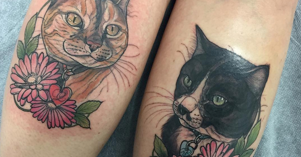 Source: Instagram/jessicaholmestattoo Holmes began tattooing cats after the death of her own pet, Toli.