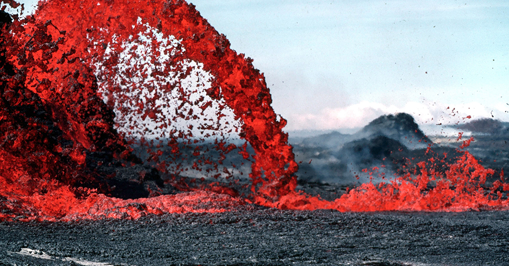 Source: Good Free Photos A lava fountain in Hawai'i.