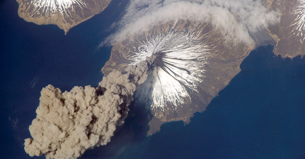 Source: Wikimedia Commons Cleveland Volcano in the Aleutian Islands of Alaska.