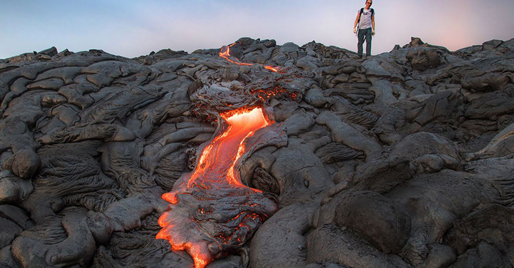 Source: National Park Service A lava flow in Hawai'i.