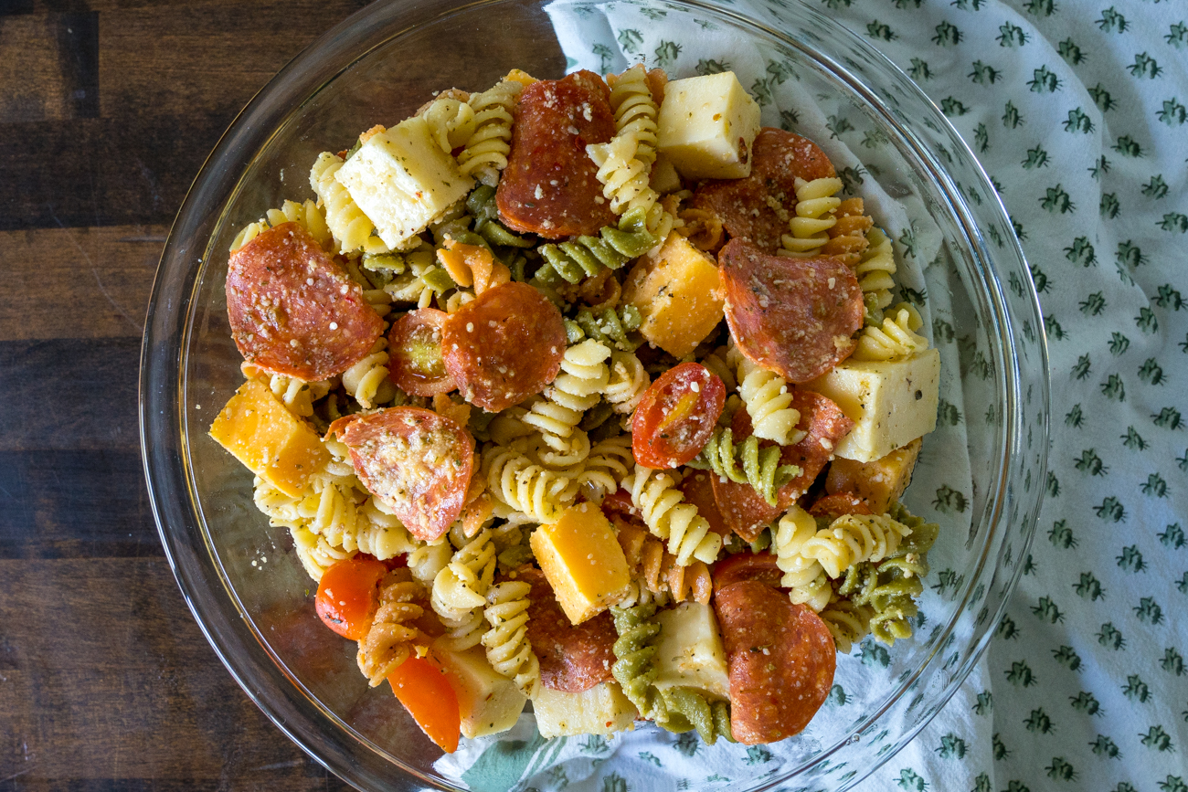 Pepperoni Pizza Pasta Salad 1
