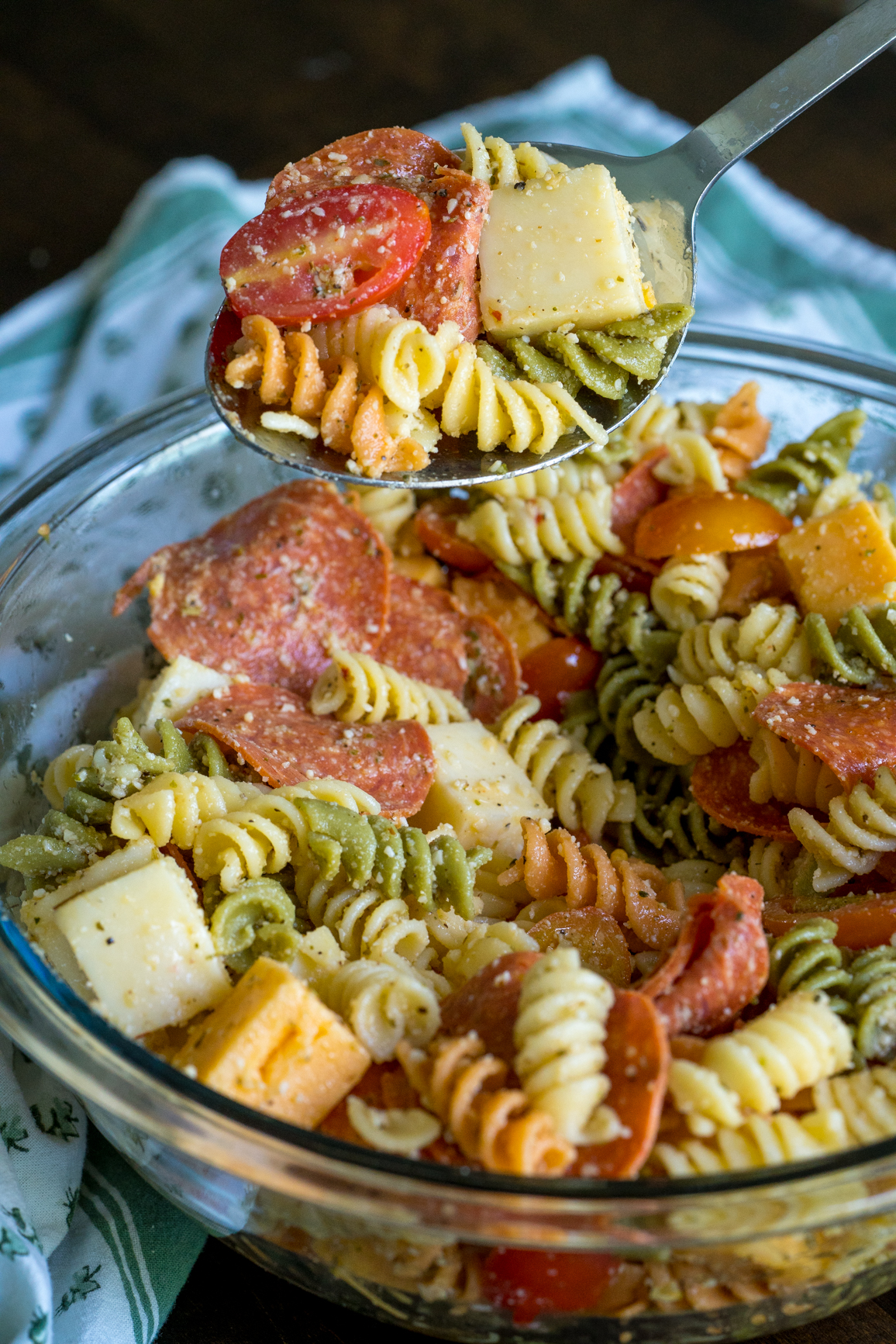 Pepperoni Pizza Pasta Salad 8