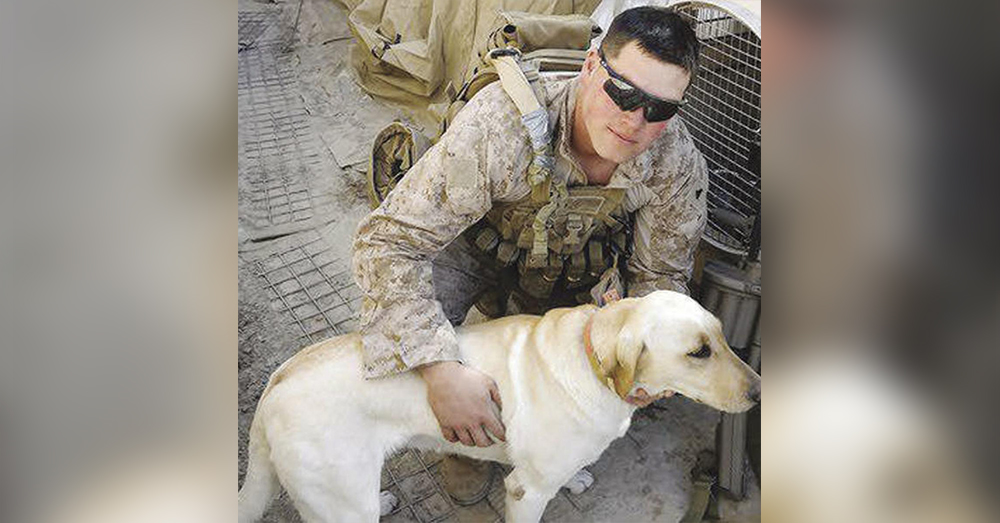 Source: U.S. Marines U.S. Marine Nick Montez and Mally.