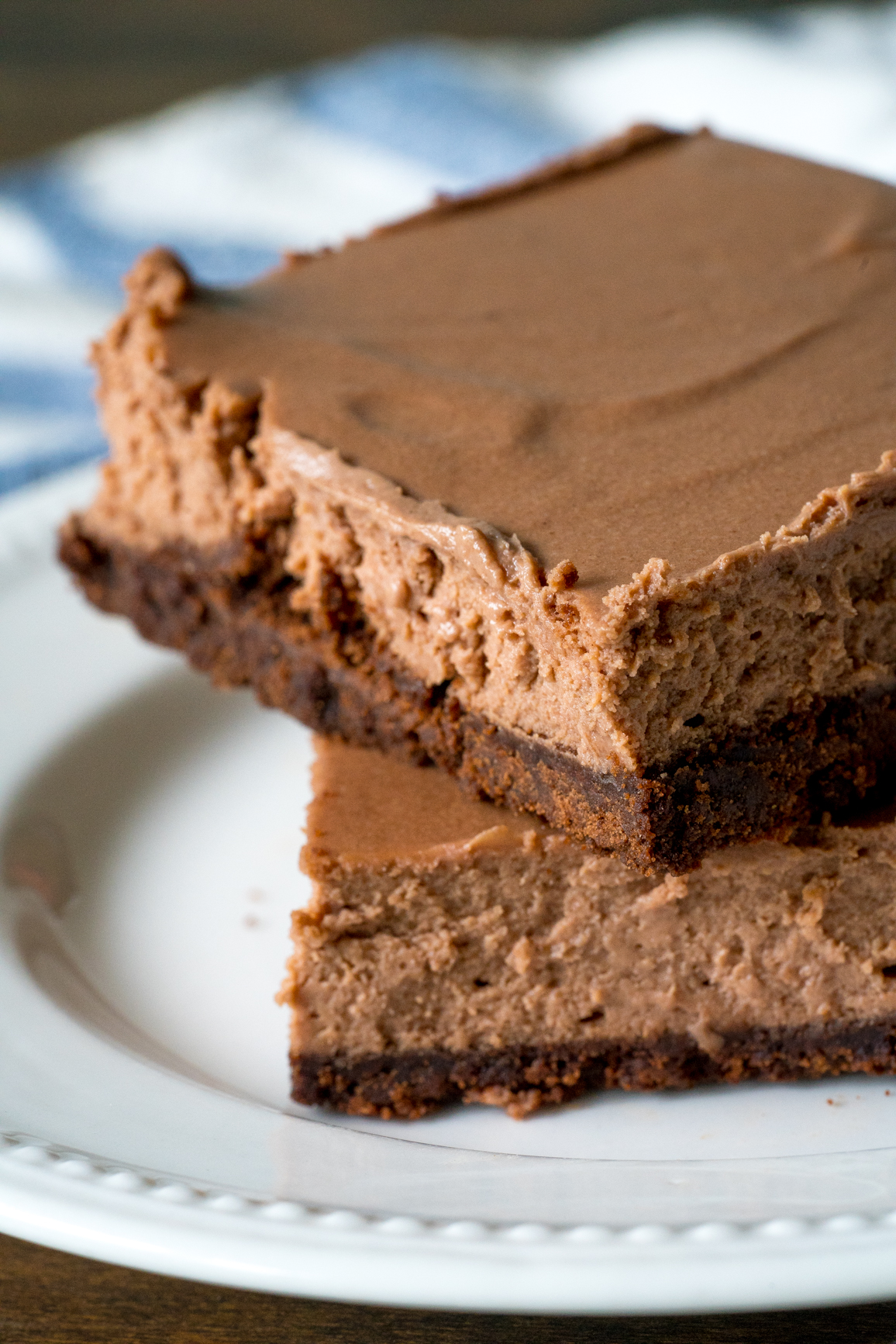 Chocolate Cheesecake Bars 11