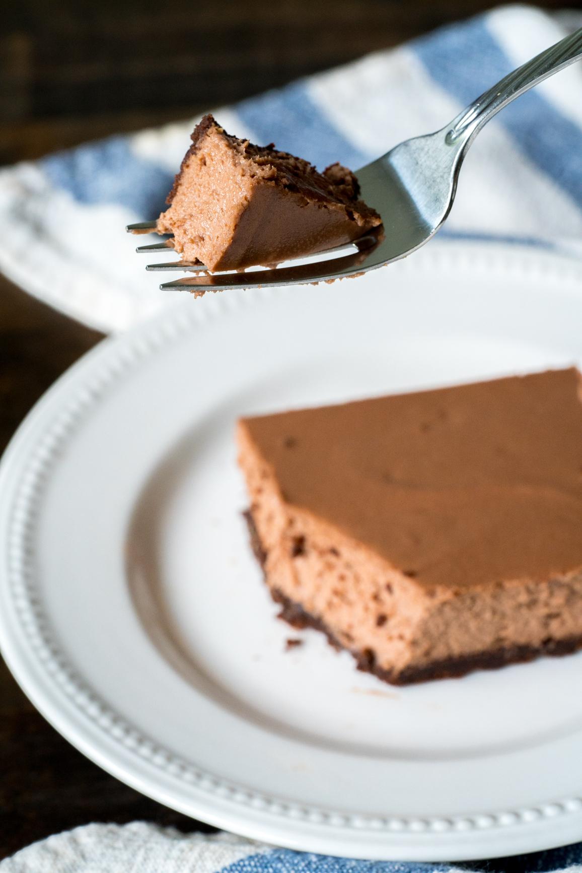 Chocolate Cheesecake Bars 9