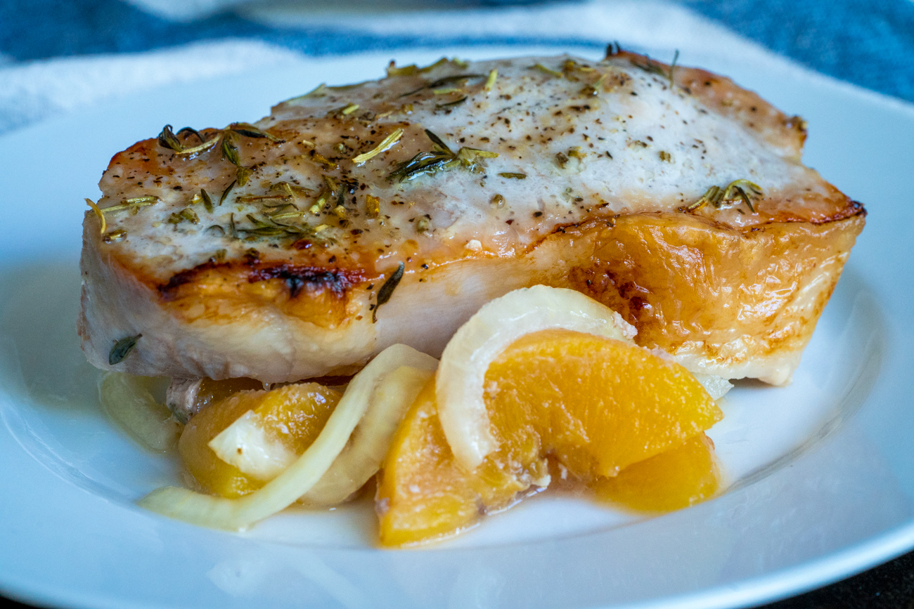 Rosemary & Thyme Peach Pork Chops Bake 5