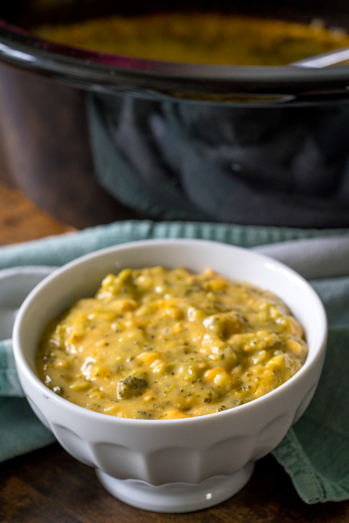 Slow Cooker Cheesy Corn and Broccoli 6