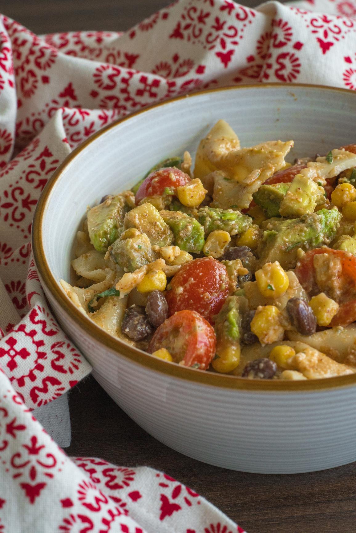 Tex Mex Pasta Salad Vertical (1 of 4)