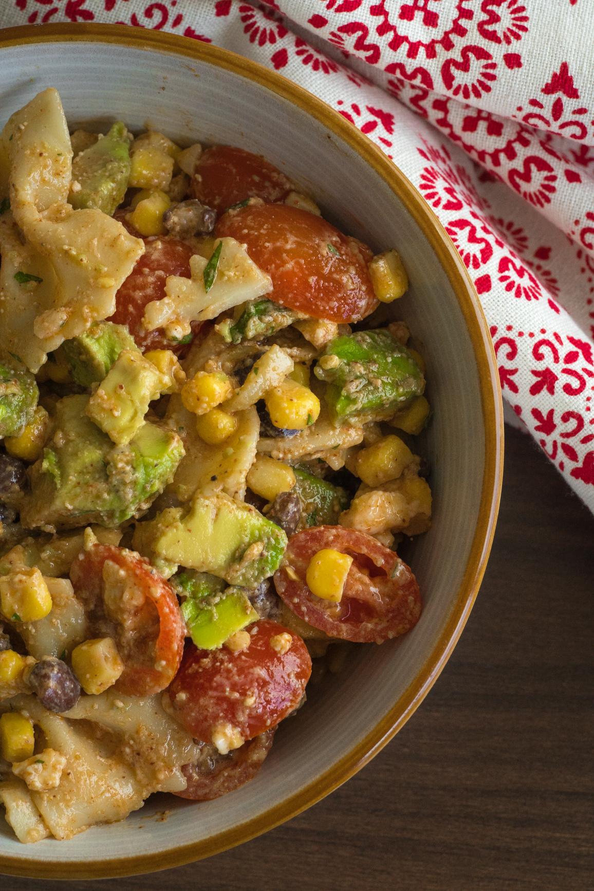 Tex Mex Pasta Salad Vertical (2 of 4)