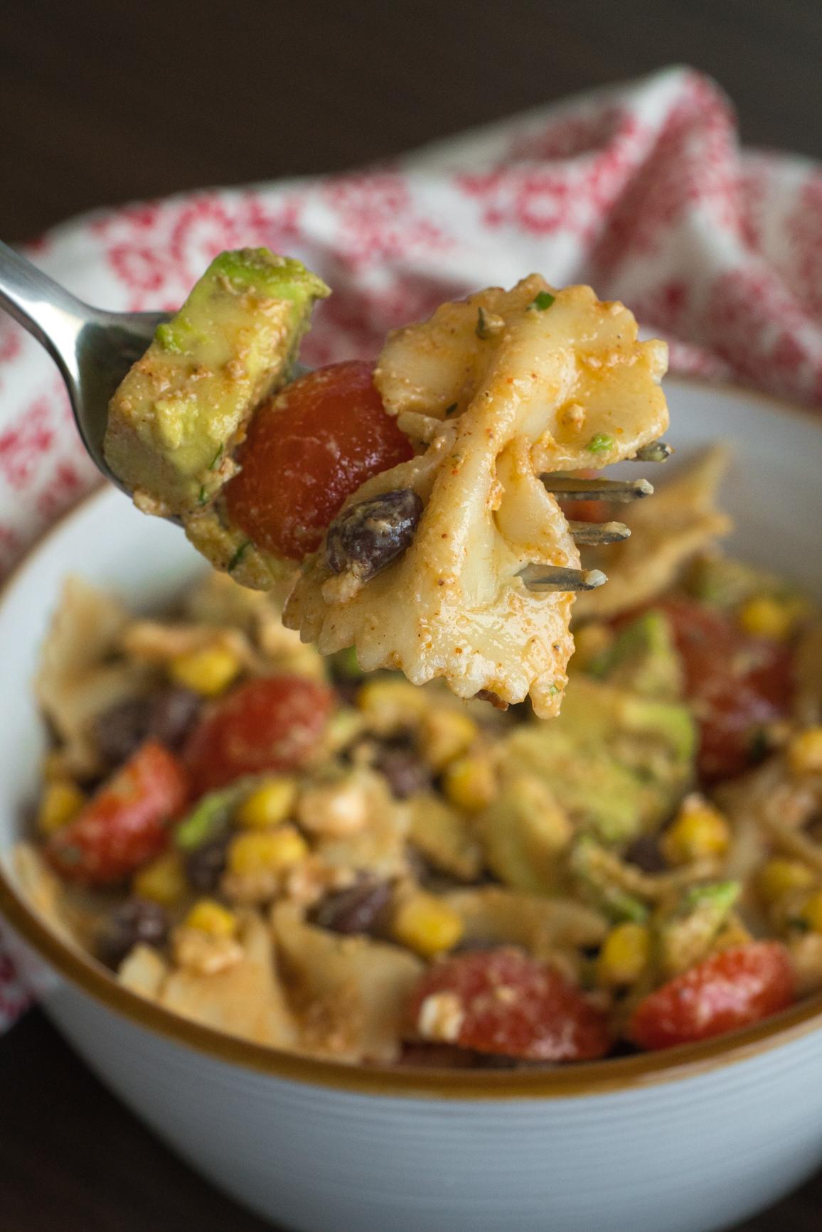 Tex Mex Pasta Salad Vertical (3 of 4)