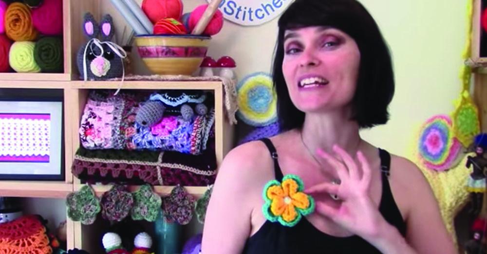 crochet flower 1