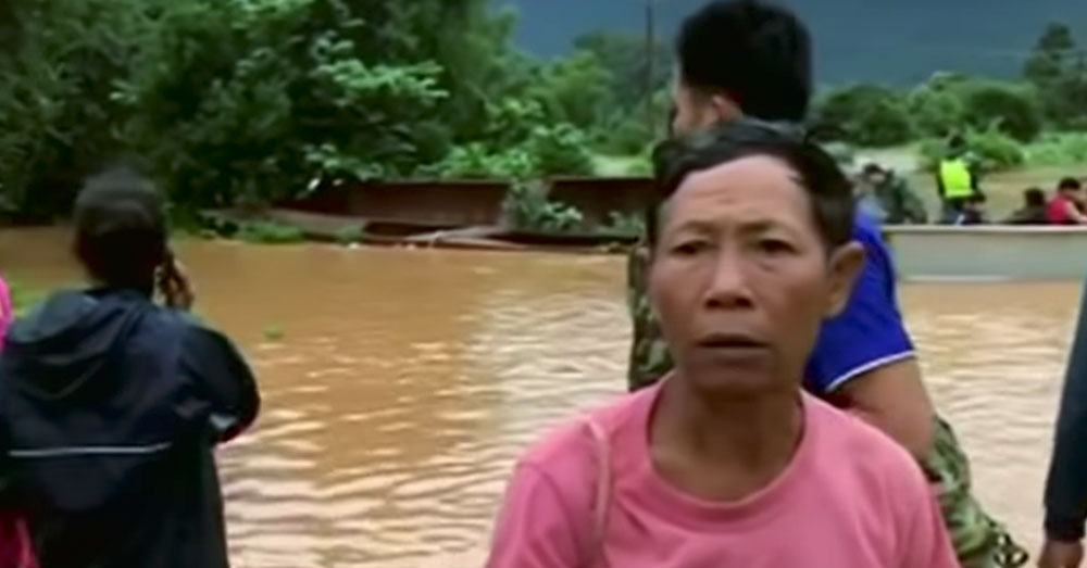 Source: YouTube/Straits Times An estimated 1,300 families have been displaced by the flooding.