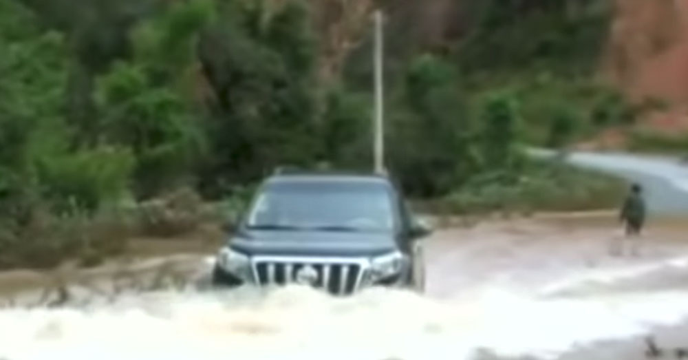Source: YouTube/Straits Times The dam collapsed early morning on July 23.