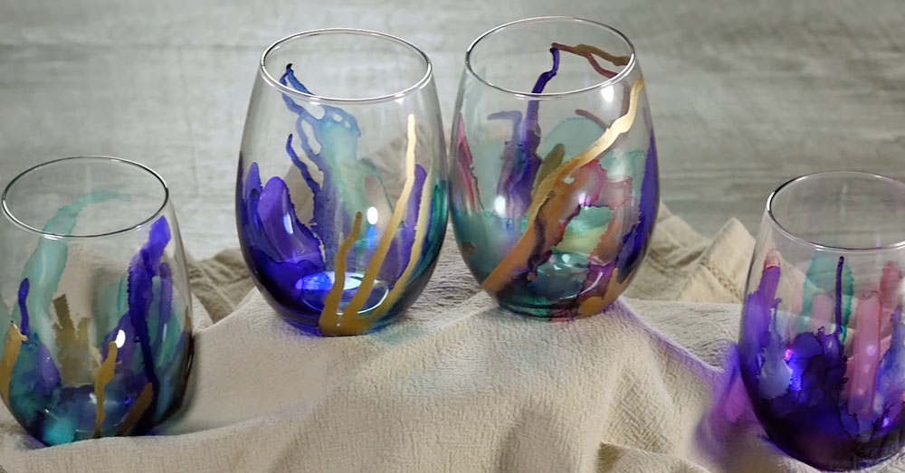 marbled glasses 1