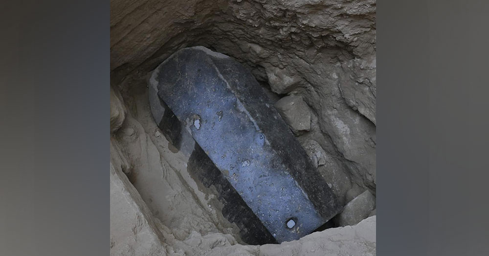 Source: Facebook/Egyptian Museum of Antiquities The sarcophagus was buried 15 feet below the surface.