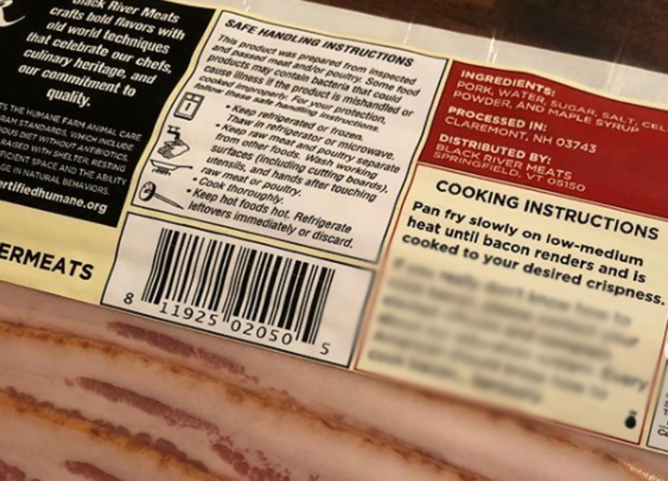 Blurred Black River meats