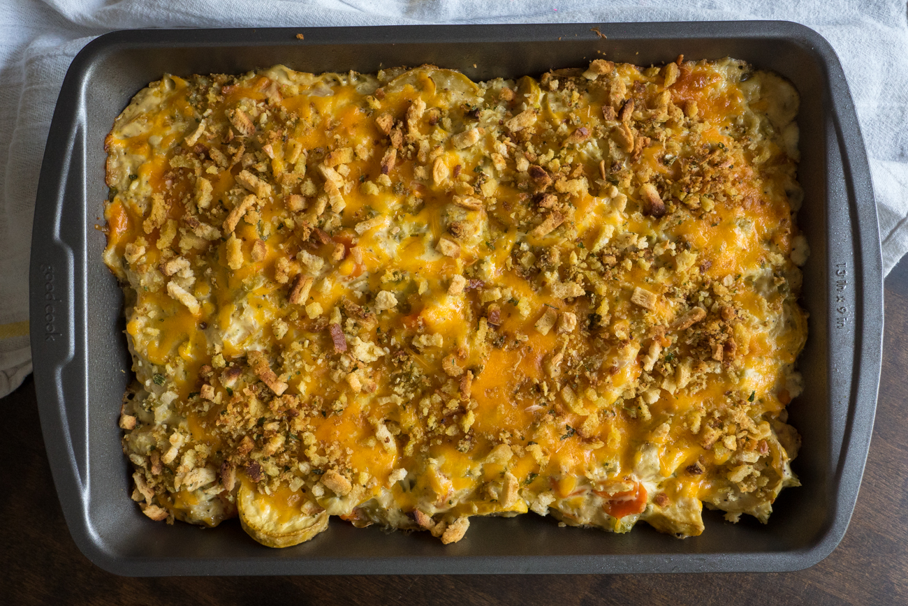 Cheesy Squash Casserole Horizontal (10 of 10)