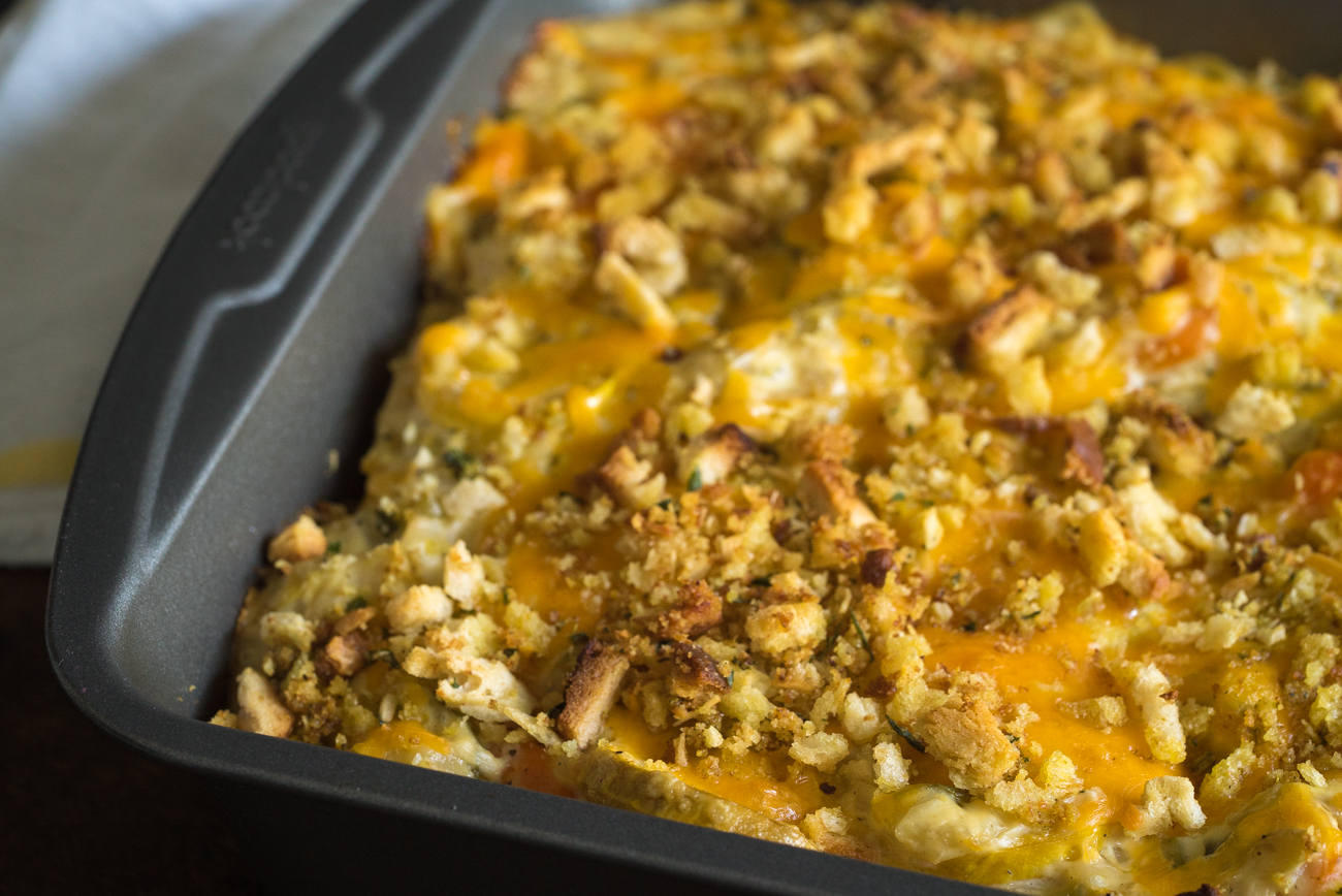 Cheesy Squash Casserole Horizontal (3 of 10)