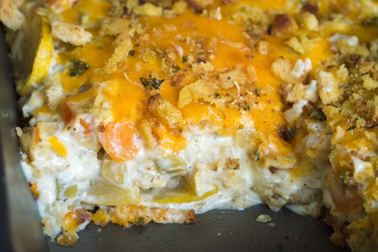 Cheesy Squash Casserole Horizontal (6 of 10)