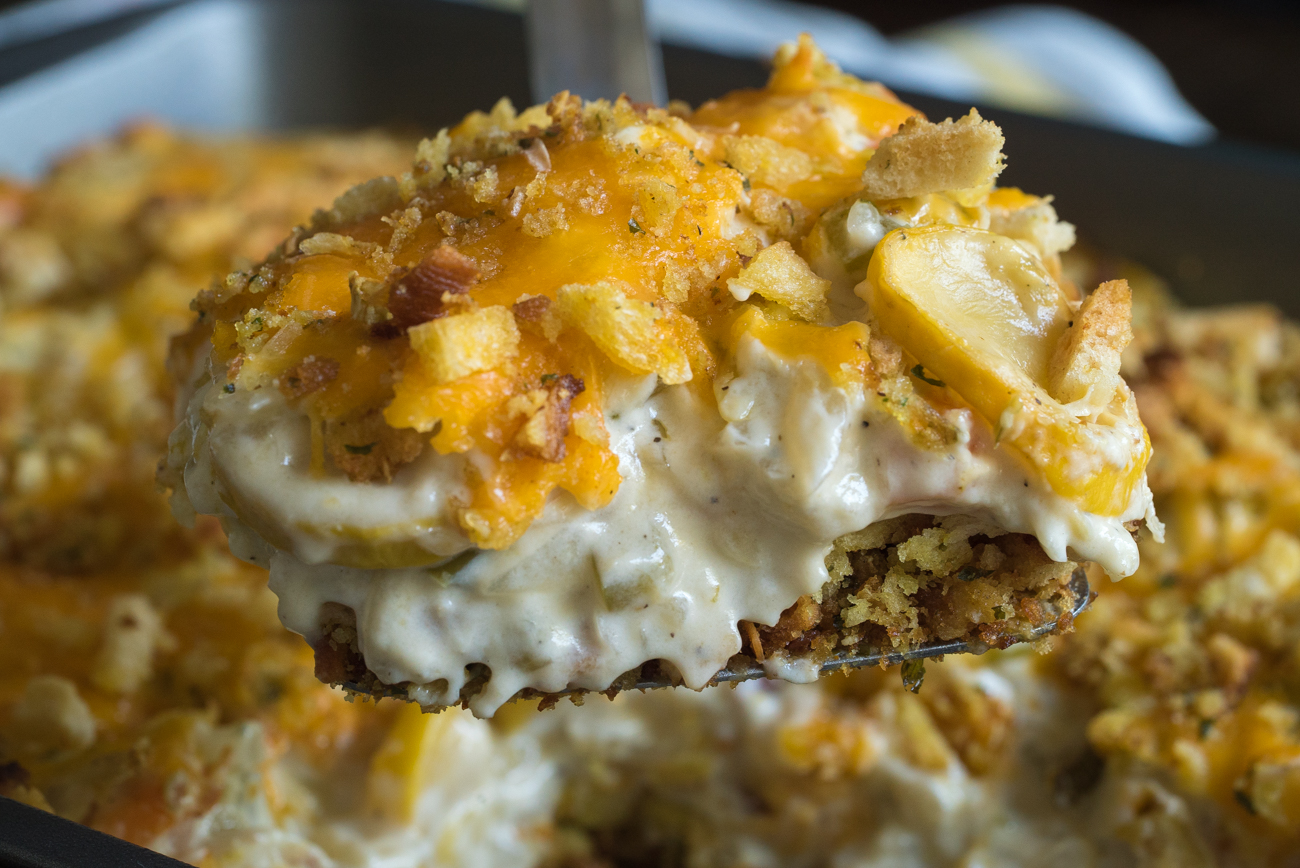 Cheesy Squash Casserole Horizontal (9 of 10)