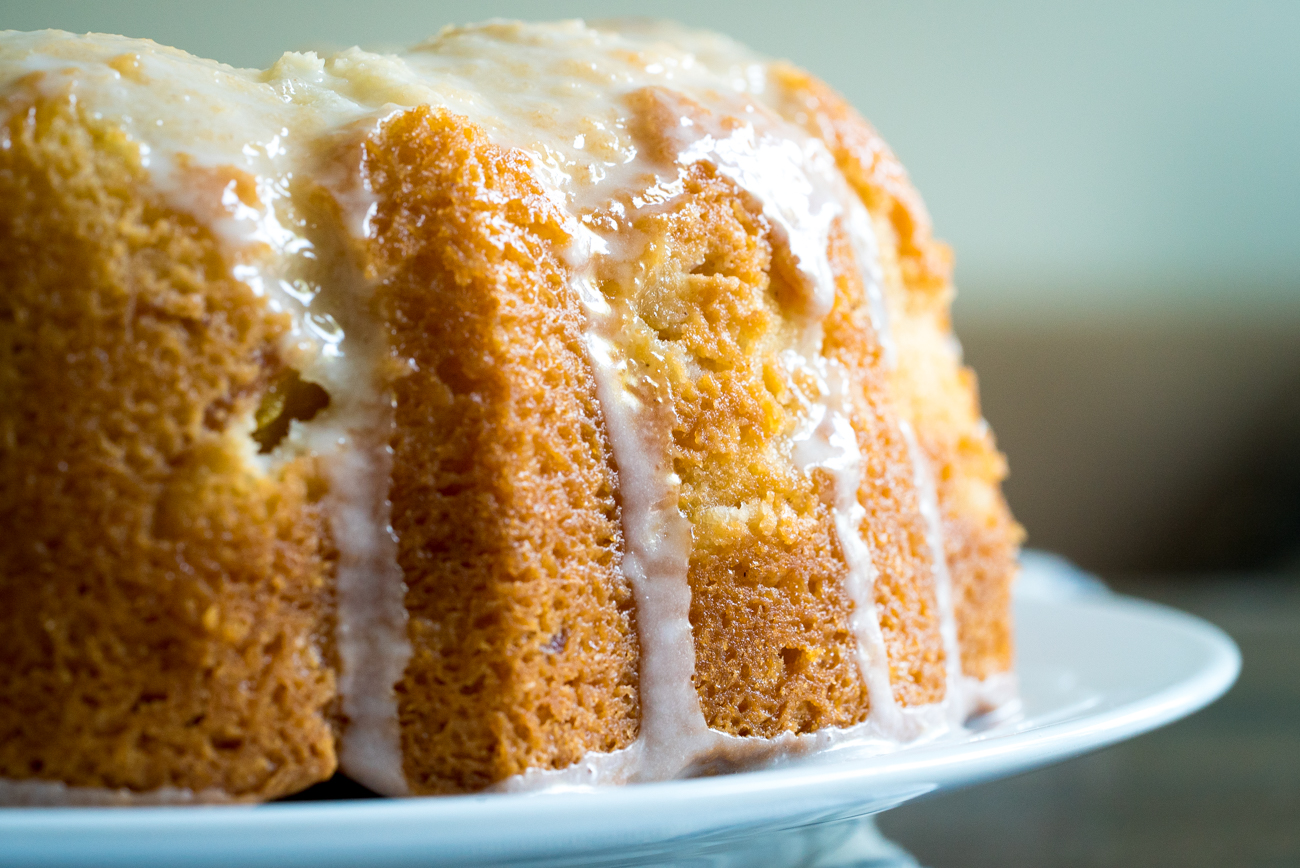 Sour Cream Peach Pound Cake 10