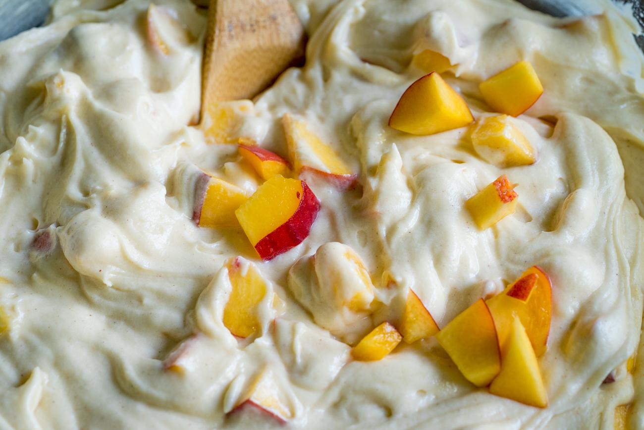 Sour Cream Peach Pound Cake 2