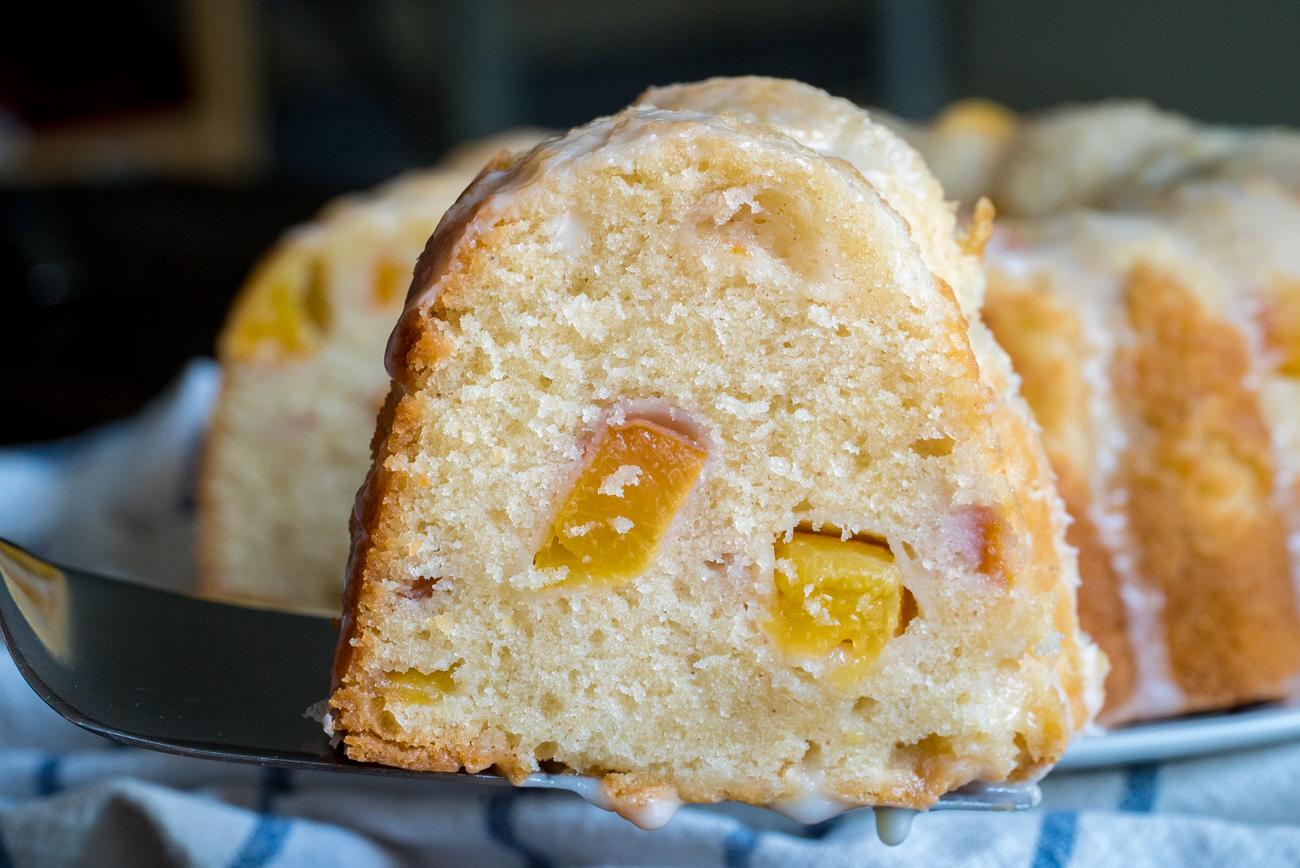 Sour Cream Peach Pound Cake 7