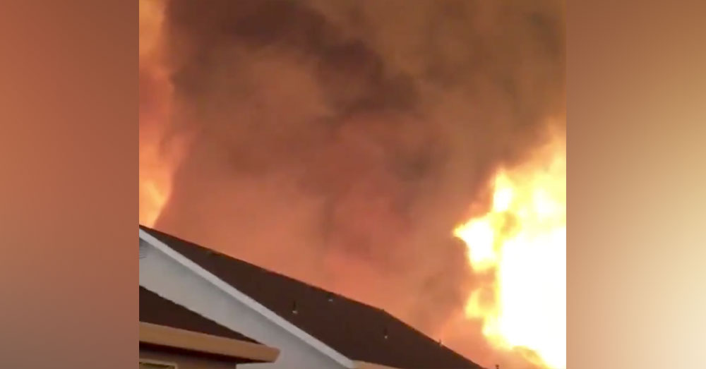 Source: Twitter/ABC10 The fire tornado has destroyed multiple homes and killed at least 3 people.